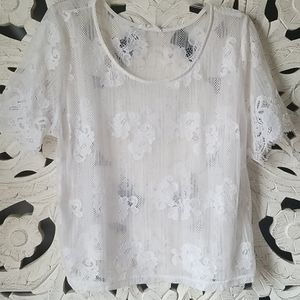 🧡3$20 White Lace Over Top XL Le Kate